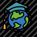 abroad, education, internationl, scholarship, study icon