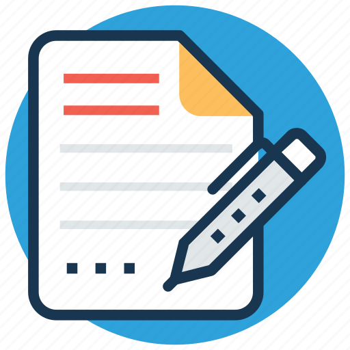 agreement, contract, document, signature, writing icon