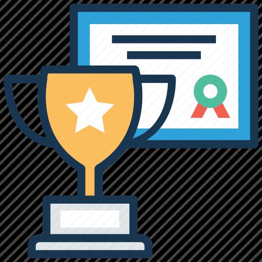 achievement, award, certificate, educational reward, trophy icon