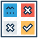 fun, game, leisure activity, tic tac toe, tick cross game icon