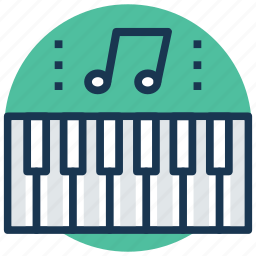 multimedia, music, music instrument, piano, piano keyboard icon