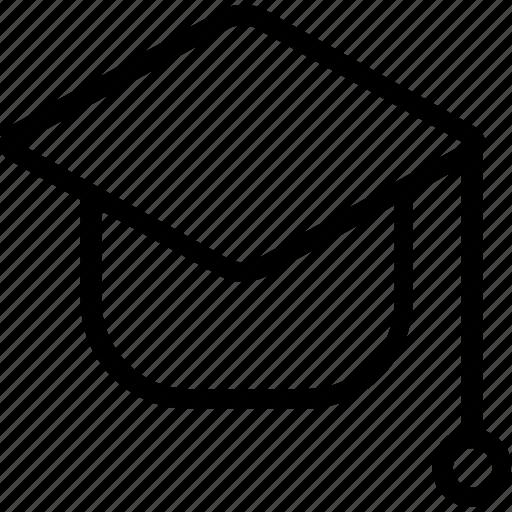 cap, ceremony, graduate, student icon