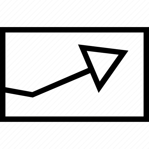 arrow, graphic, right, up icon