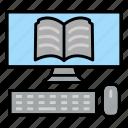 computer, education, monitor, online, studies, technologies