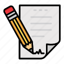 documents, networking, notes, paper, pencil, sheet, writing icon