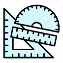 design, drawing, geometry, math, ruler, stationery, tools icon