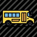 bus, drop, pick, school, transport, van, vehicle