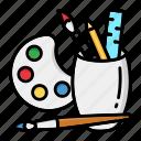 art, brush, draw, drawing, holder, paintbrush, painting icon
