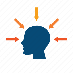arrows, diagnostic, effect, head, impact, motivate, pressure, scan, scanning, simultaneously, target audience, visualize icon