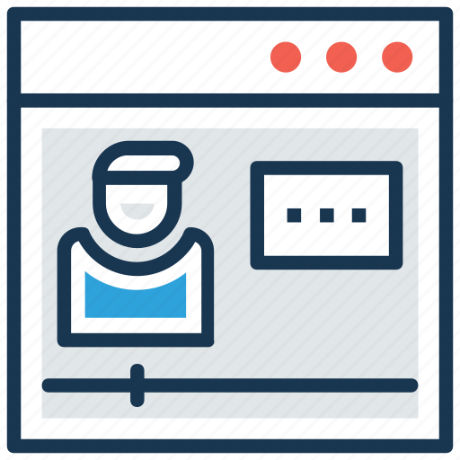 elearning, modern education, online education, online teacher, video lecture icon