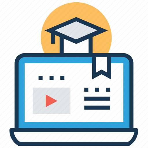 distance learning, elearning, modern education, online degree, online study icon