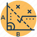 algebra, formula, geometry, math function, mathematics icon
