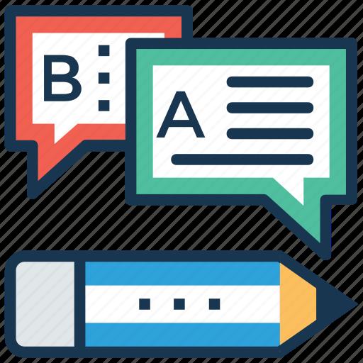 communication, compose message, conversation, dialogue, write message icon