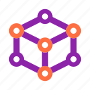 cube, education, geometry, learn, math, school, study icon