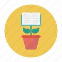 book, growth, plant, reading, studying