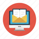 inbox, mail, message, online, screen icon