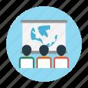 board, classroom, education, presentation, school icon