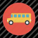 bus, education, school, transport, vehicle icon
