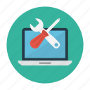 fix, laptop, notebook, repair, setting icon