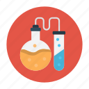 education, experiment, flask, test, tube