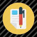 create, education, learning, pencil, write icon