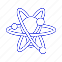 atom, chemistry, creativity, education, idea, inspiration, learning, lightbulb, science, sciencetific icon