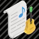 guitar, lyrics, melody, music, music class, nota, songs icon