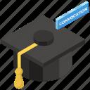academic cap, commencement, convocation cap, degree cap, graduation cap, graduation hat, mortarboard icon