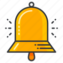 alarm, alert, bell, education, notification icon