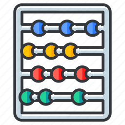 abacus, calcuations, calculate, calculation, education icon