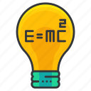 education, idea, lightbulb, science, theory icon