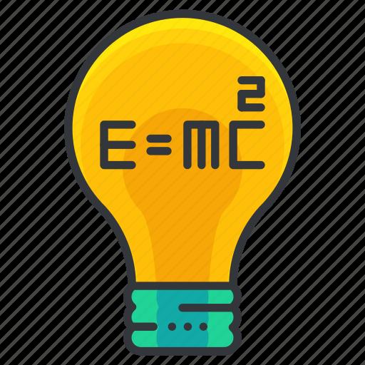 education, idea, lightbulb, science, theory icon