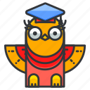 animal, bird, education, graduate, owl