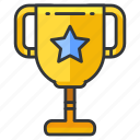 trophy, education, star, reward