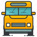 bus, education, school, transfer, transportation icon