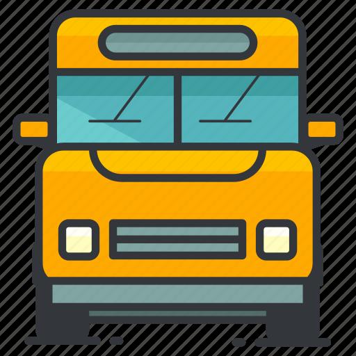 bus, education, school, transfer, transportation icon