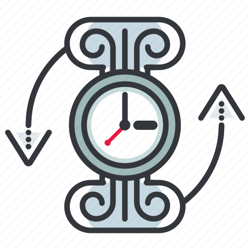 arrow, arrows, clock, time, timer icon
