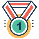 achievement, award, first place, medal, prize icon
