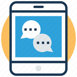 chatting, communication, mobile chatting, mobile message, sms icon