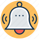 alarm, bell, notification, ring, school bell icon