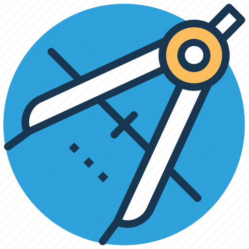 compass, divider tool, drafting tool, geometry, geometry compass icon