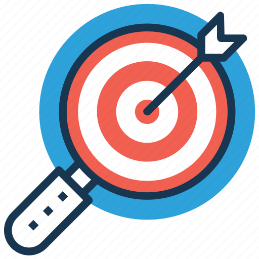 aim, goal, mission, objective, target icon