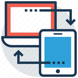 adaptive layout, responsive design, responsive layout, web article, website content icon