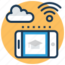 cloud education, cloud study, ebook, education technology, icloud book icon