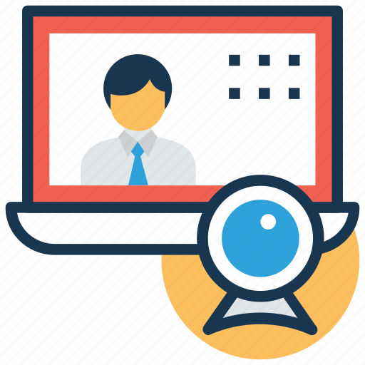 online training, video lecture, video lesson, video tutorial, webinar icon