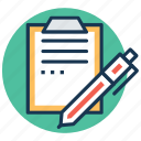 clipboard, create typography, list, notes, text document icon