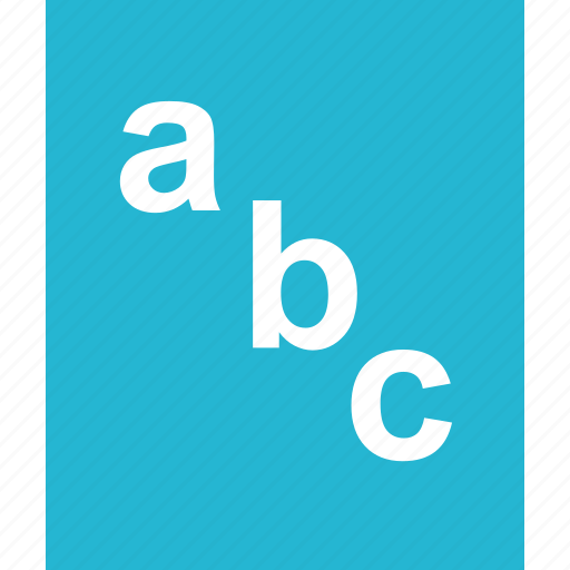 abc, document, education, homework, learning, page, school icon