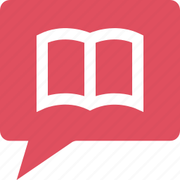 book, bubble, chat, education, learning, school icon