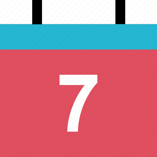 calendar, event, number, seven icon