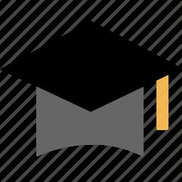 cap, education, graducaton, learning, school icon